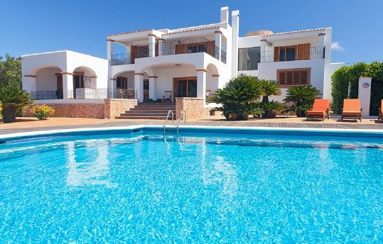 Luxury home with superb views over Ibiza Old Town in Jesus, Ibiza
