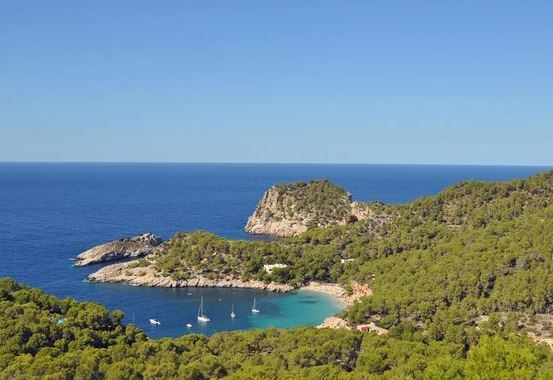Detached sea view villa for sale in Cala Salada, Ibiza