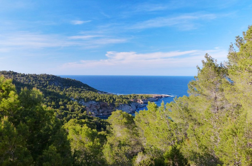 Santa Eularia Ibiza sea view villa for sale