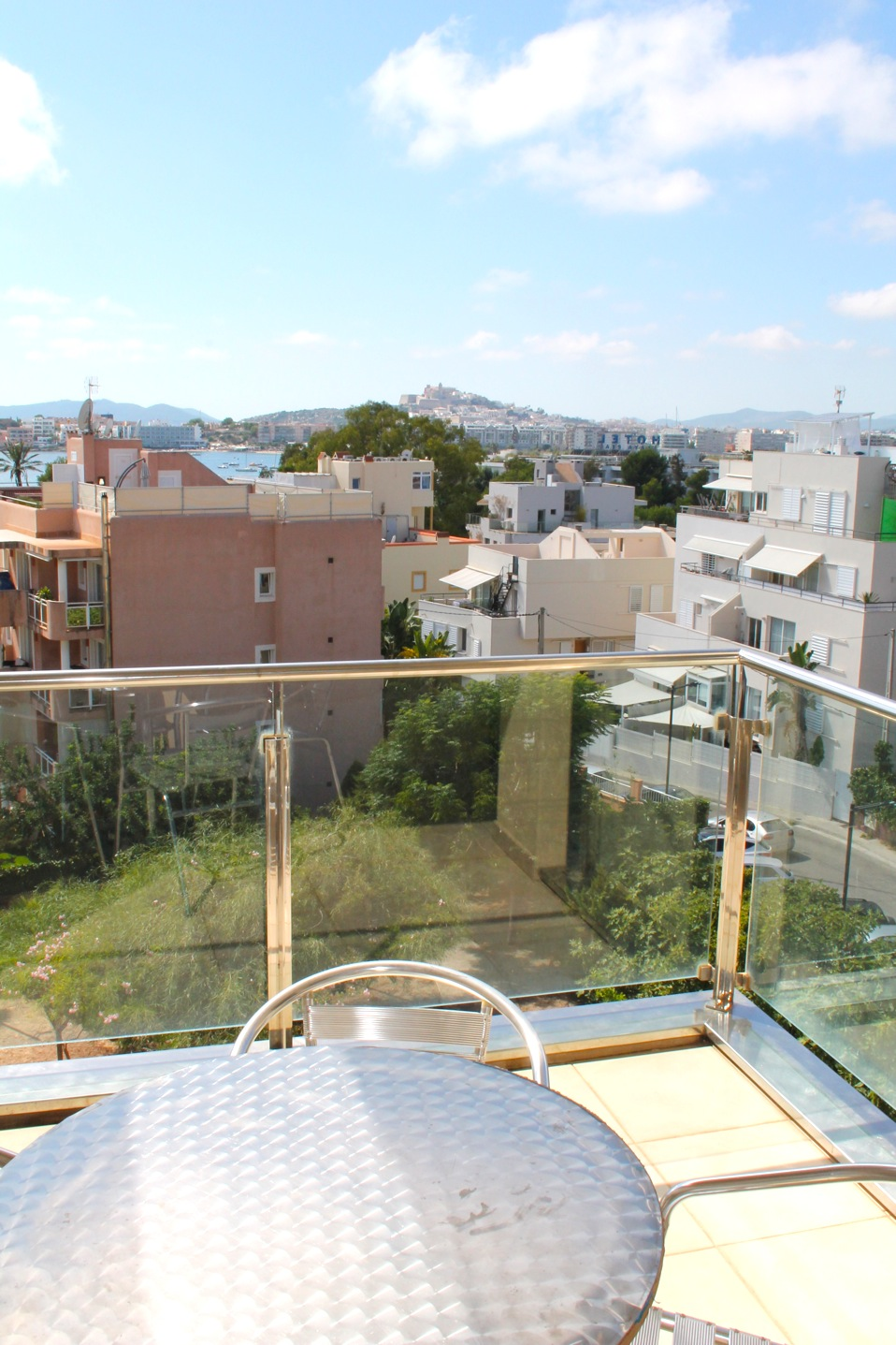 Modern apartment with great views of Ibiza Old Town near