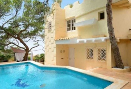 First line to sea villa for sale Cala Vadella Ibiza 0