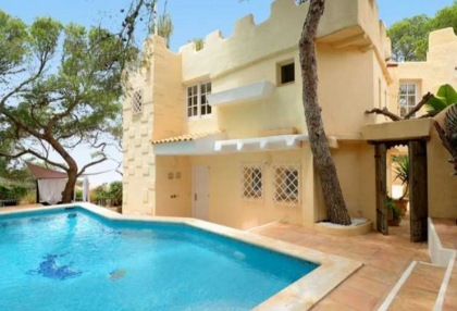 First line to sea villa for sale Cala Vadella Ibiza 1