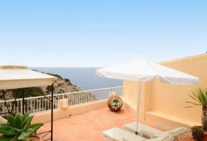 First line to sea villa for sale Cala Vadella Ibiza 2