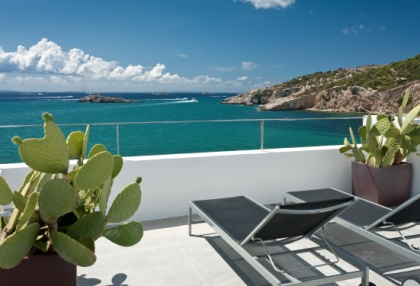 Pretty reformed townhouse for sale Ibiza Town with sea views looking over old town 1