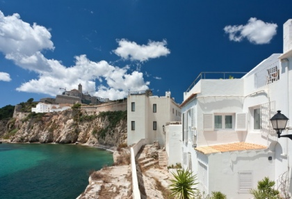 Pretty reformed townhouse for sale Ibiza Town with sea views looking over old town 2