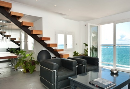 Pretty reformed townhouse for sale Ibiza Town with sea views looking over old town 3