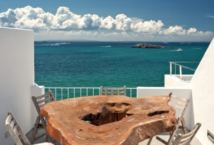 Pretty reformed townhouse for sale Ibiza Town with sea views looking over old town 5