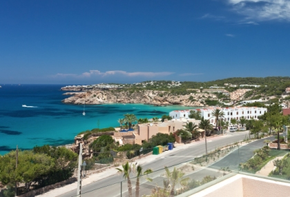 Semi-detached sea views house for sale Cala Tarida San Jose Ibiza 1