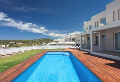 Semi-detached sea views house for sale Cala Tarida San Jose Ibiza 3