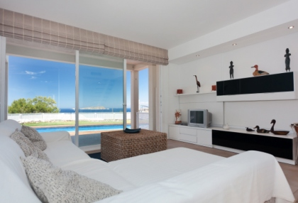 Semi-detached sea views house for sale Cala Tarida San Jose Ibiza 4