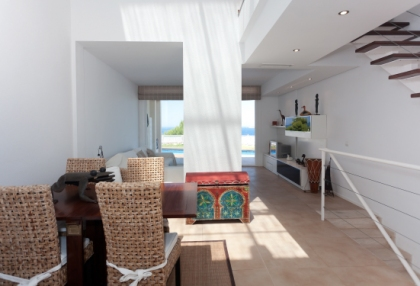 Semi-detached sea views house for sale Cala Tarida San Jose Ibiza 5