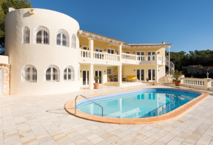 Classic sea view villa for sale Can Furnet Santa Eularia Ibiza 1
