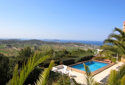 Modern 2 bedroom apartment for sale with sea views Cala Bassa Sant Josep Ibiza 1