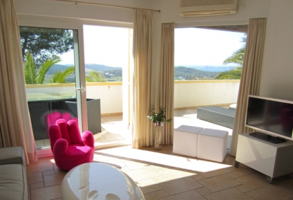 Modern 2 bedroom apartment for sale with sea views Cala Bassa Sant Josep Ibiza 2
