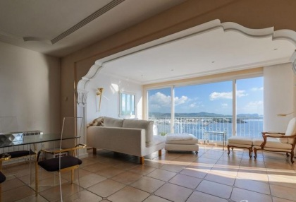 2 bedroom front line apartment for sale Santa Eularia Ibiza sea views 5