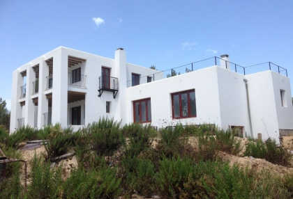 Es Cubells Ibiza luxury unfinished villa for sale in over 6 acres of land with distant sea views 3