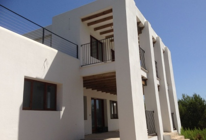 Es Cubells Ibiza luxury unfinished villa for sale in over 6 acres of land with distant sea views 5