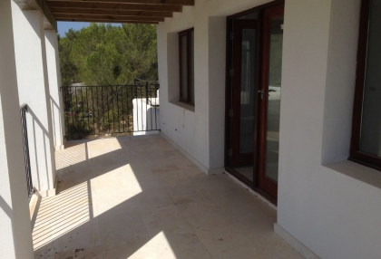 Es Cubells Ibiza luxury unfinished villa for sale in over 6 acres of land with distant sea views 7