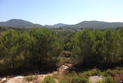 Es Cubells Ibiza luxury unfinished villa for sale in over 6 acres of land with distant sea views 9