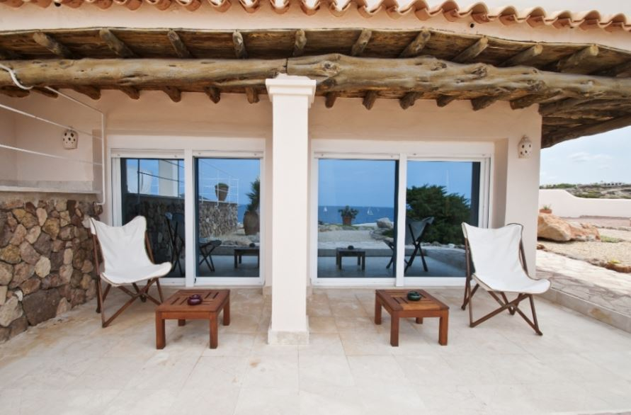Frontline to sea, villa with a guest house with Ibiza sunsets  Ibiza properties for sale