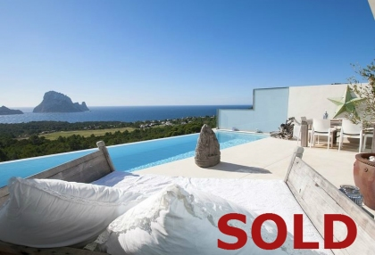 3 bedroom luxury sea view villa for sale San Jose coast Ibiza Spain 1