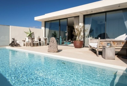 3 bedroom luxury sea view villa for sale San Jose coast Ibiza Spain 13