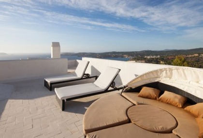 Sea view home for sale in Cala Moli Ibiza recently modernised_12