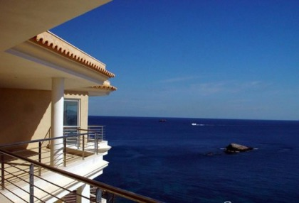 2 bedroom modern new build apartment for sale Ibiza Town front line sea views 1