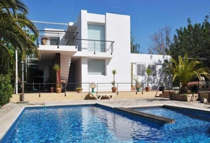Modern 4 bedroom villa for sale Jesus Ibiza with views to Dalt Vila 1