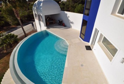 Modern villa in Cala Conta with sea and sunset _13
