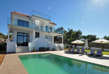 Newly built modern villa for sale san Jose Ibiza with sunset sea views 2