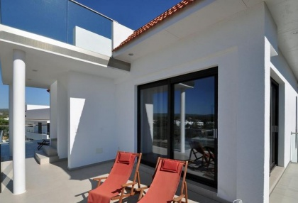 Newly built modern villa for sale san Jose Ibiza with sunset sea views 23