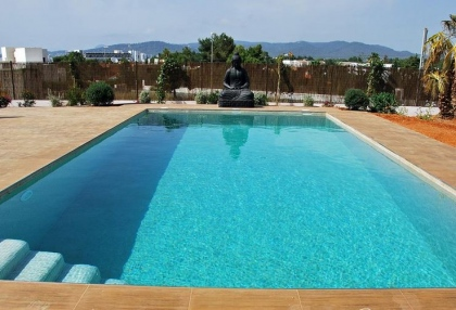 Newly built modern villa for sale san Jose Ibiza with sunset sea views 6