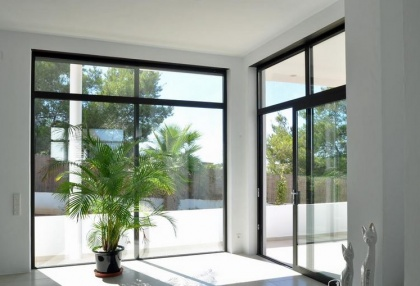 Newly built modern villa for sale san Jose Ibiza with sunset sea views 9