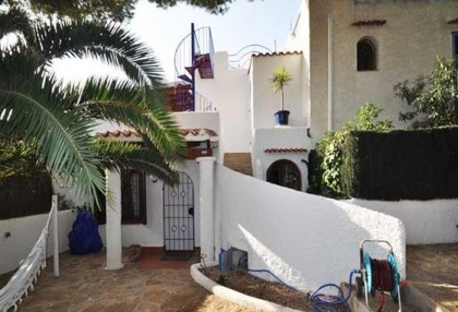 For Sale 3 bedroom villa San Jose Ibiza close to Cala tarida distant sea views 1