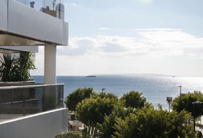 Sea view apartment for sale Playa den bossa Ibiza 1