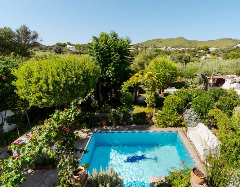 House for sale with mature gardens and pool ibiza for Garden pool for sale