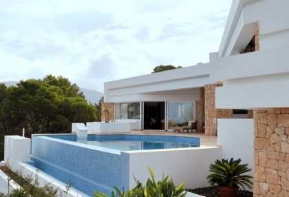 Modern villa with sea and sunset views close to Cala Carbo, Ibiza-s