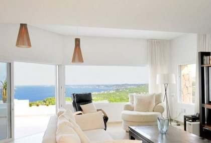 Modern villa with sea and sunset views close to Cala Carbo, Ibiza_1