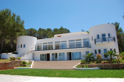 Estate with large modern house and 3 guest houses ibiza for Huge modern houses for sale
