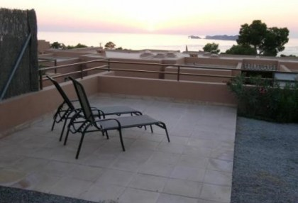 West coast Ibiza Cala Moli 2 bed property for sale with sea views 4