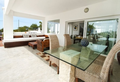 8 bedroom luxury oceanfront villa for sale with sea sunset views to Es Vedra Ibiza San Jose Coast 13