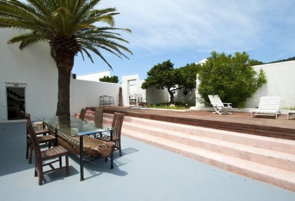 8 bedroom luxury oceanfront villa for sale with sea sunset views to Es Vedra Ibiza San Jose Coast 17
