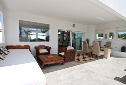 8 bedroom luxury oceanfront villa for sale with sea sunset views to Es Vedra Ibiza San Jose Coast 23