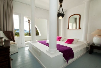 8 bedroom luxury oceanfront villa for sale with sea sunset views to Es Vedra Ibiza San Jose Coast 26