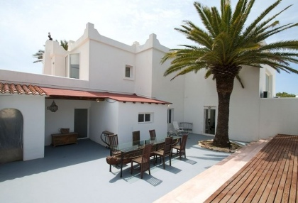 8 bedroom luxury oceanfront villa for sale with sea sunset views to Es Vedra Ibiza San Jose Coast 4