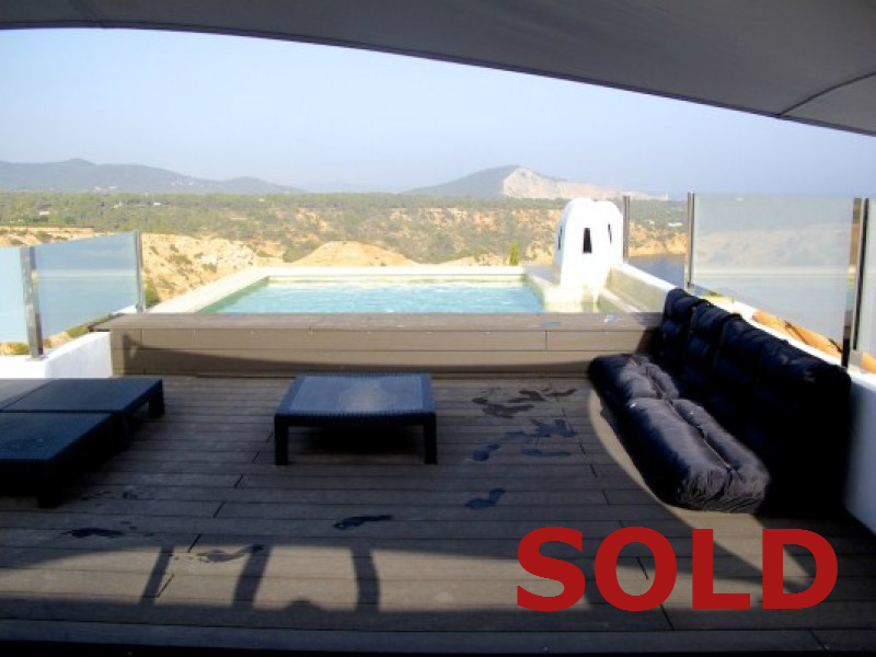 Modern stylish 4 bedroom Villa with Sea Views for Sale Vista Alegre Ibiza