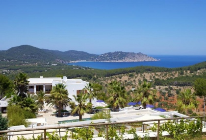 Mountain Estate for sale with modern house sea views large plot Santa Eularia Ibiza 2