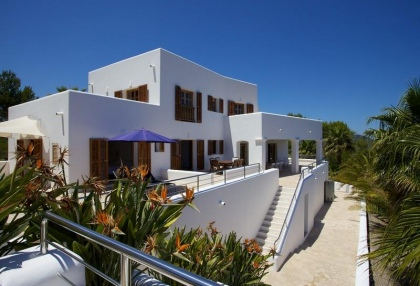 Mountain Estate for sale with modern house sea views large plot Santa Eularia Ibiza 3