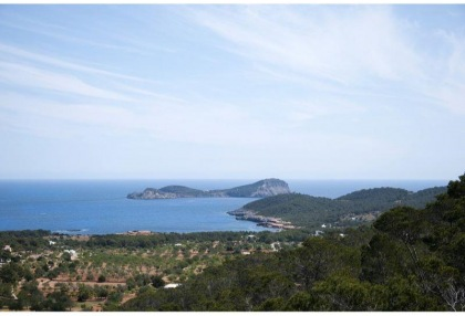 Mountain Estate for sale with modern house sea views large plot Santa Eularia Ibiza 5